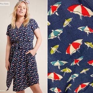 Anthro Maeve Beach Umbrella Catherine Shirtdress